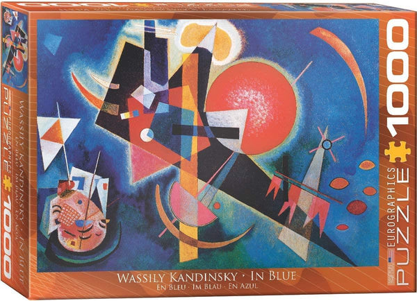 Eurographics In Blue, Wassily Kandinsky Jigsaw Puzzle (1000 Pieces)