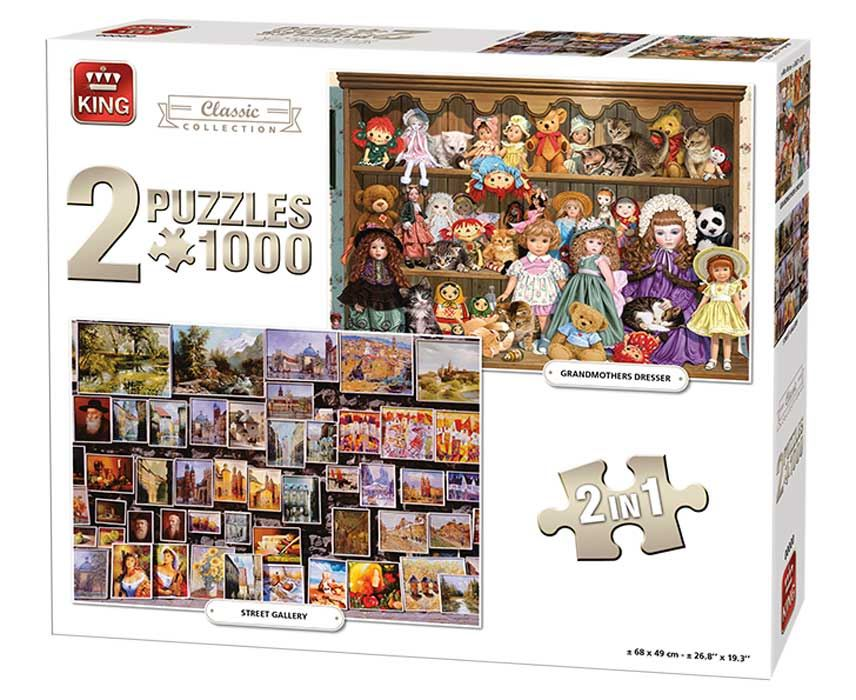 King 2 In 1 Classic Collection Jigsaw Puzzle (1000 Pieces)