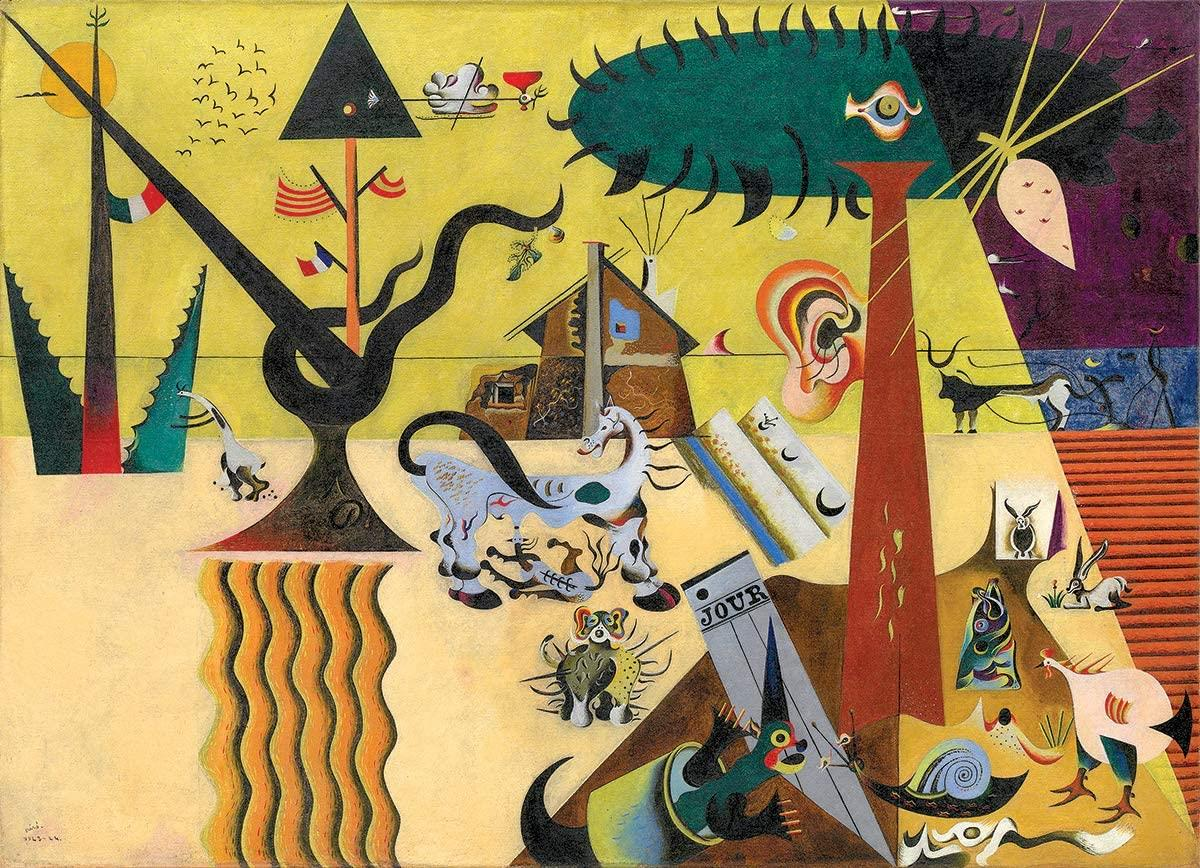 Eurographics Joan Miro - The Tilled Field Jigsaw Puzzle (1000 Pieces)