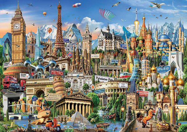 Educa Europe Landmarks Jigsaw Puzzle (2000 Pieces)