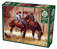 Cobble Hill Back to the Barn Jigsaw Puzzle (1000 Pieces)
