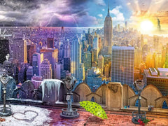 Ravensburger New York Summer and Winter Jigsaw Puzzle (1500 Pieces)