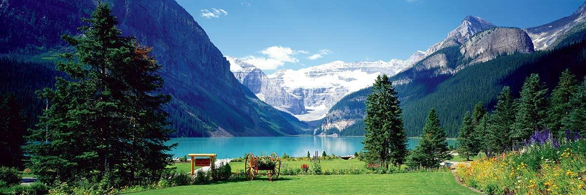 Eurographics Lake Louise Canadian Rockies Panorama Jigsaw Puzzle (1000 Pieces)