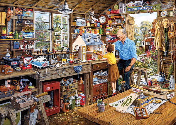 Gibsons Grandad's Workshop Jigsaw Puzzle (500 XL pieces)