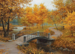 Eurographics Autumn in an Old Park Jigsaw Puzzle (1000 Pieces)