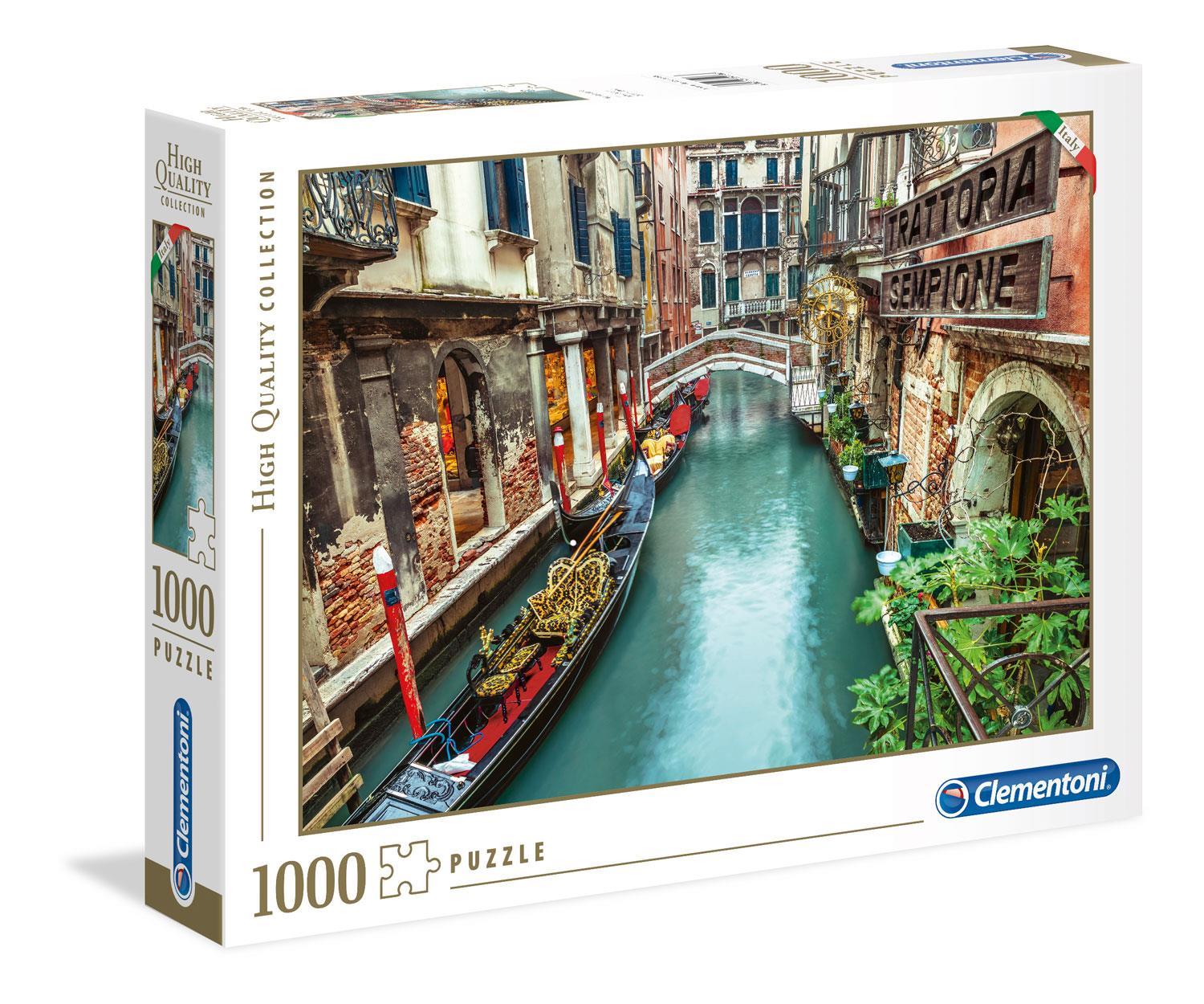 Clementoni Venice Canal High Quality Jigsaw Puzzle (1000 Pieces)
