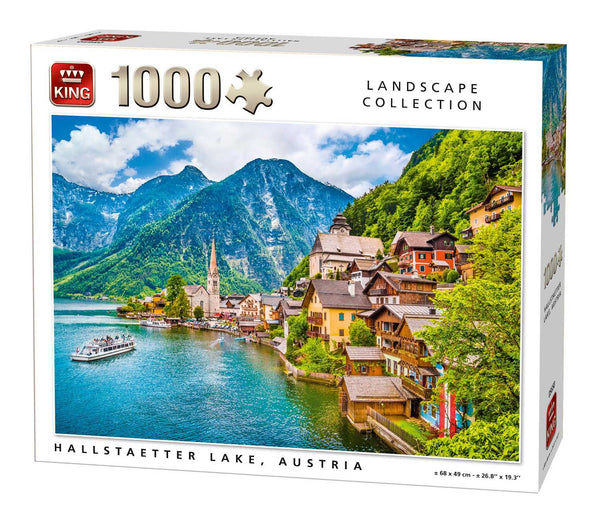 King Hallstaetter Lake Jigsaw Puzzle (1000 Pieces)