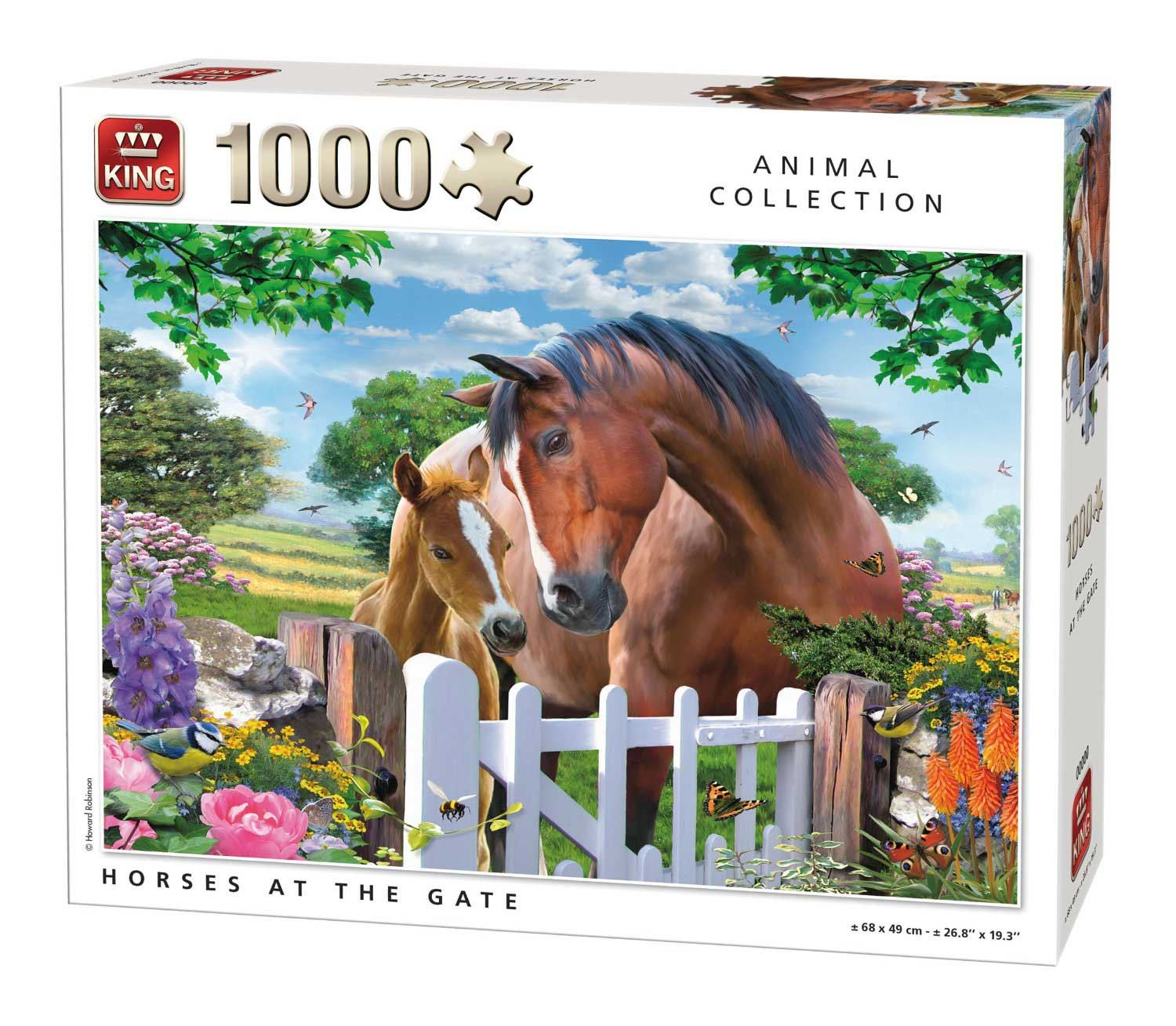 King Horses At The Gate Jigsaw Puzzle (1000 Pieces)
