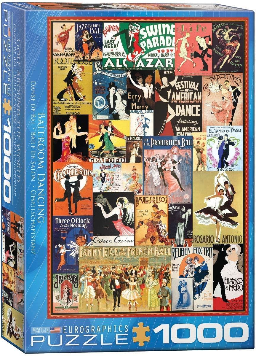 Eurographics Ballroom Dancing Jigsaw Puzzle (1000 Pieces)