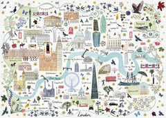 Gibsons Map of London Jigsaw Puzzle (1000 Pieces)