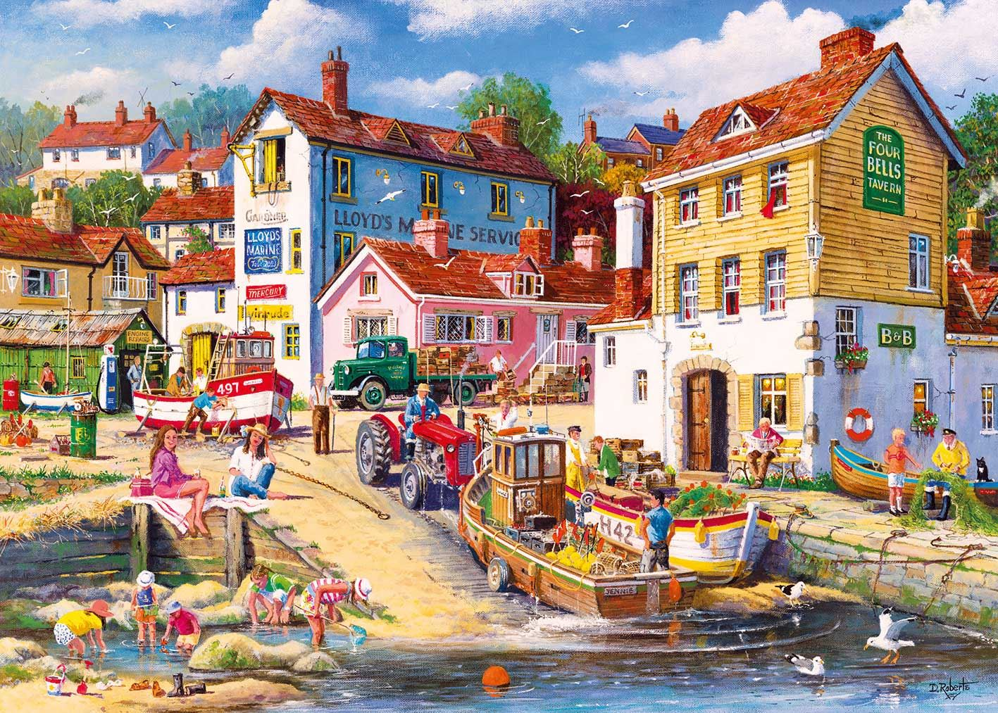 Gibsons The Four Bells Jigsaw Puzzle (1000 pieces)