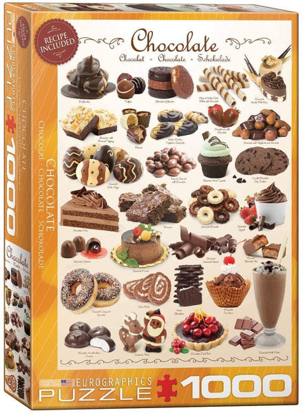 Eurographics Chocolate Jigsaw Puzzle (1000 Pieces)
