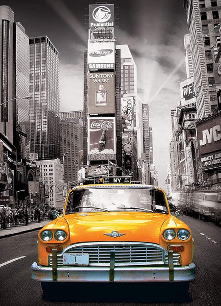 Eurographics New York City Yellow Cab Jigsaw Puzzle (1000 Pieces)