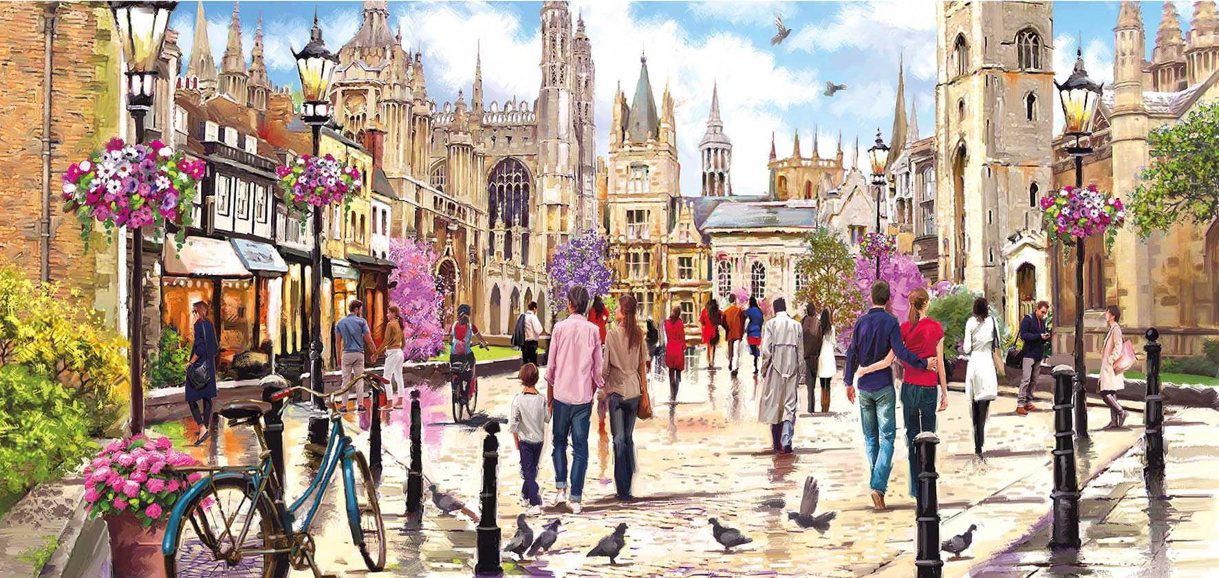 Gibsons Cambridge Jigsaw Puzzle (636 Pieces)