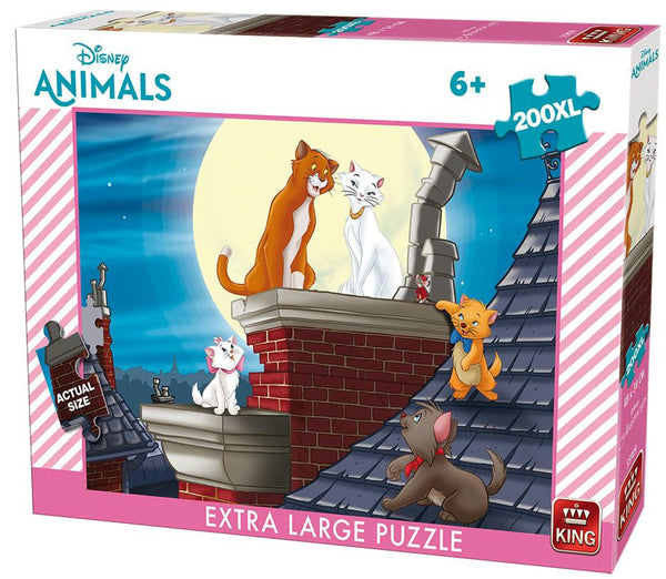 King Disney Aristocats Jigsaw Puzzle (200 XL Large Pieces)