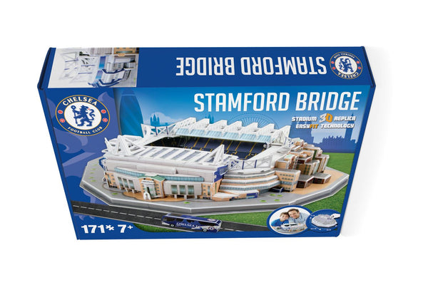 Stamford Bridge Chelsea Stadium 3D Model Jigsaw Puzzle (171 Pieces)