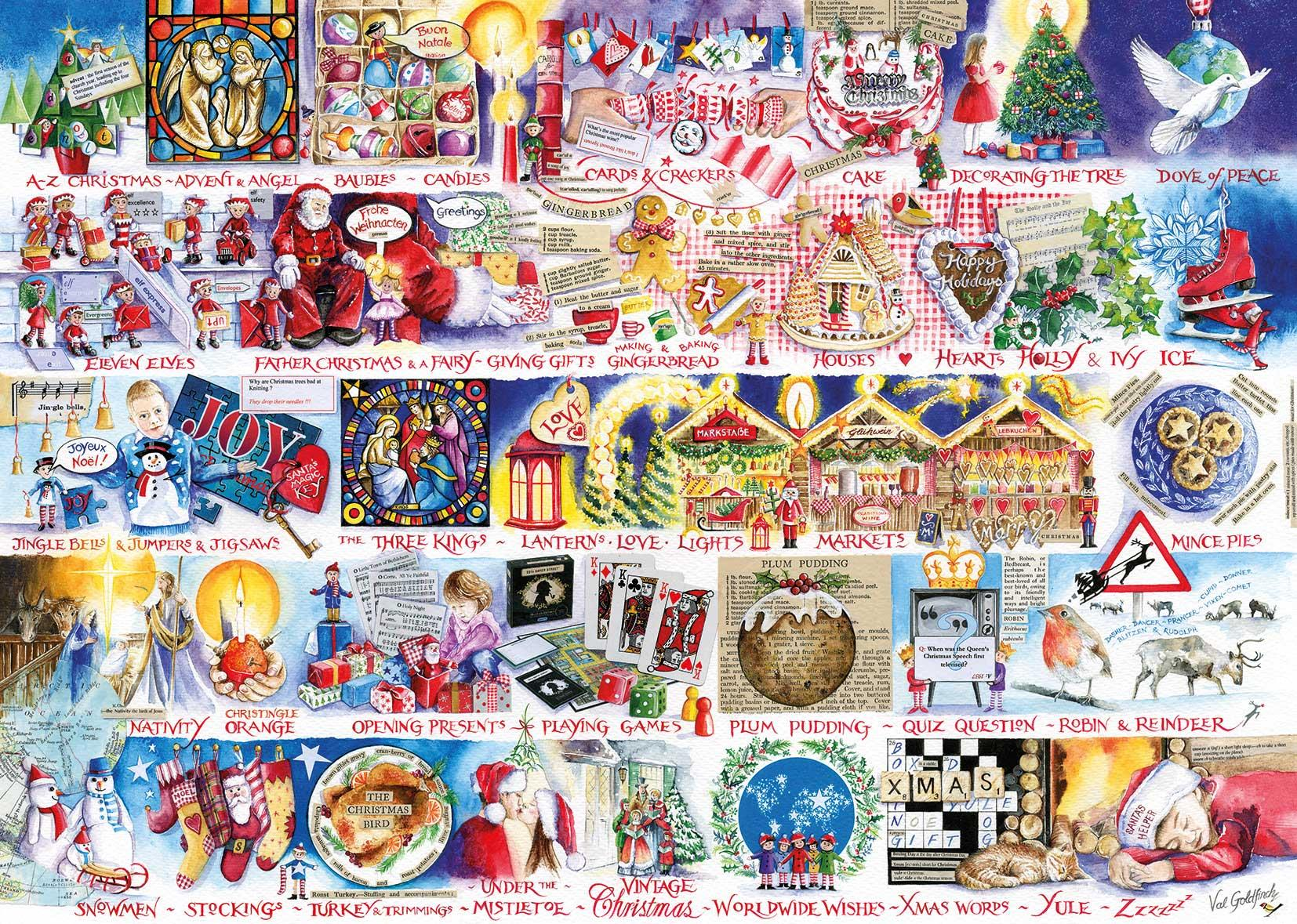 Gibsons Christmas Alphabet Jigsaw Puzzle (1000 Pieces)