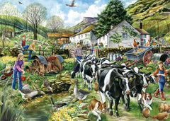 Falcon Deluxe Another Day on the Farm Jigsaw Puzzle (1000 Pieces)