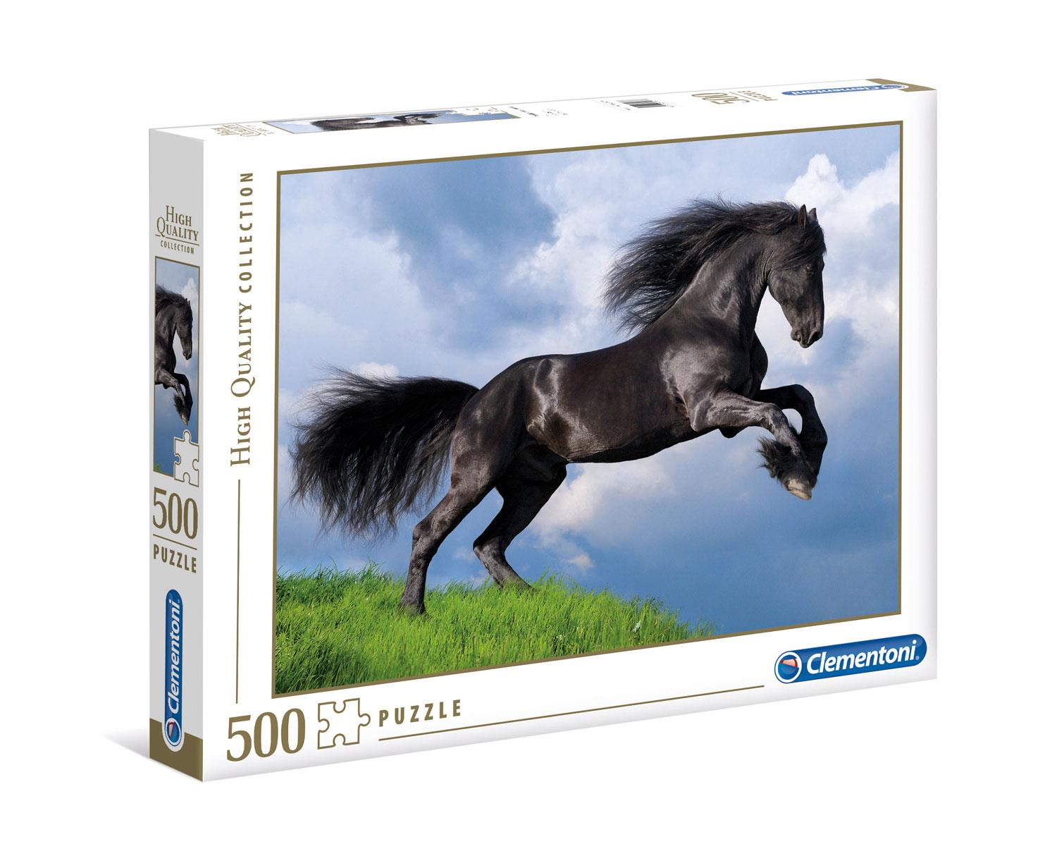 Clementoni Fresian Black Horse High Quality Jigsaw Puzzle (500 Pieces)