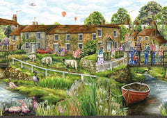 Falcon Deluxe Village Life Jigsaw Puzzle (2 x 1000 Pieces)