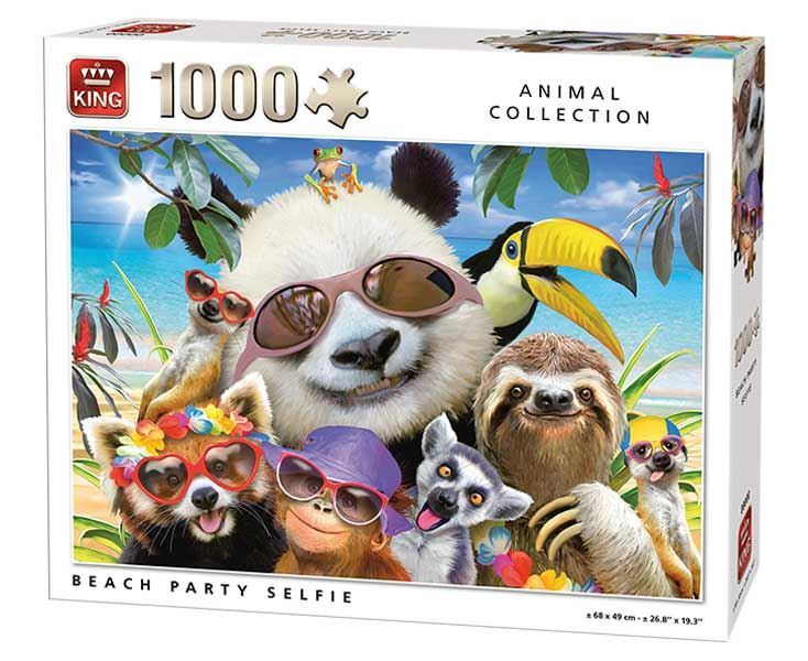 King Beach Party Selfie Jigsaw Puzzle (1000 Pieces)