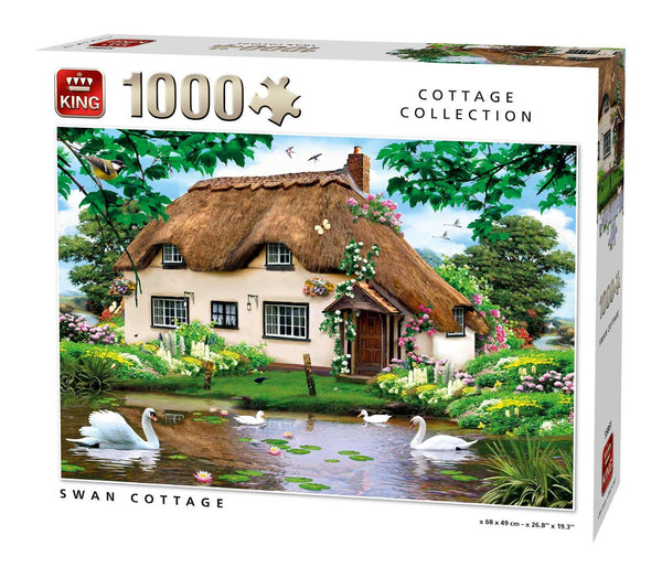King Swan Cottage Jigsaw Puzzle (1000 Pieces)