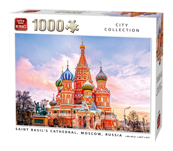 King St Basil's Cathedral, Moscow, Russia Jigsaw Puzzle (1000 Pieces)