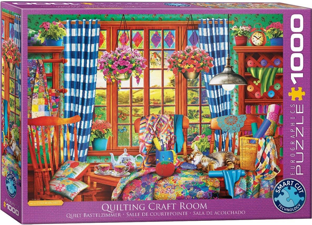 Eurographics Quilting Craft Room Jigsaw Puzzle (1000 Pieces)