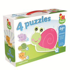 Playlab 4 Children's Jigsaw Puzzles (4 x 2 Pieces)