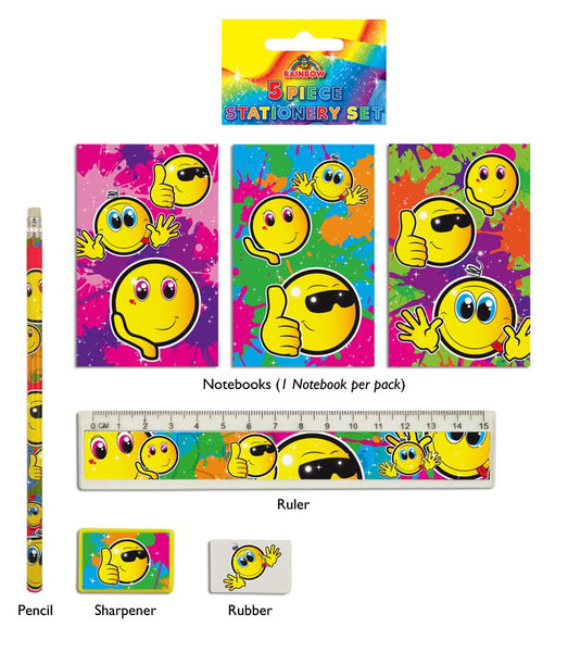 Smiley 5-Piece Stationery Set