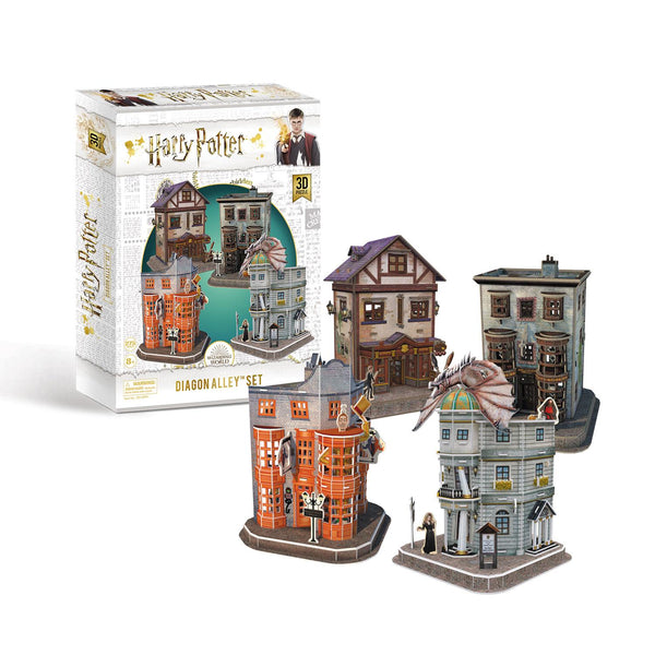 Harry Potter Diagon Alley Complete Collection 4 x 3D Model Jigsaw Puzzles