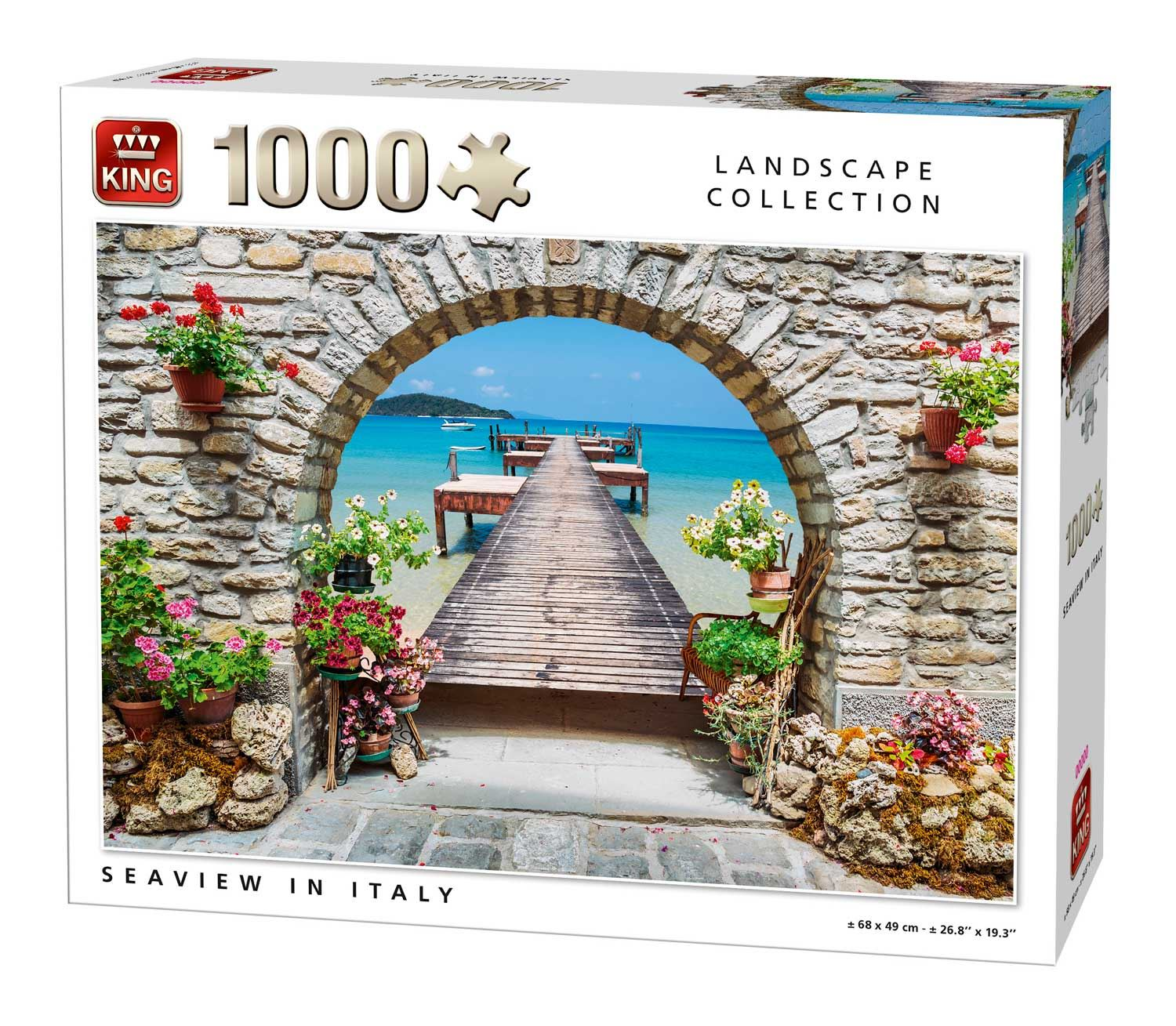King Seaview In Italy Jigsaw Puzzle (1000 Pieces)