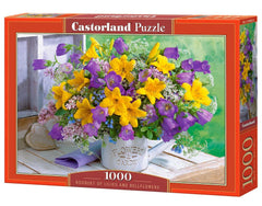 Castorland Lillies and Bellflowers Jigsaw Puzzle (1000 Pieces)