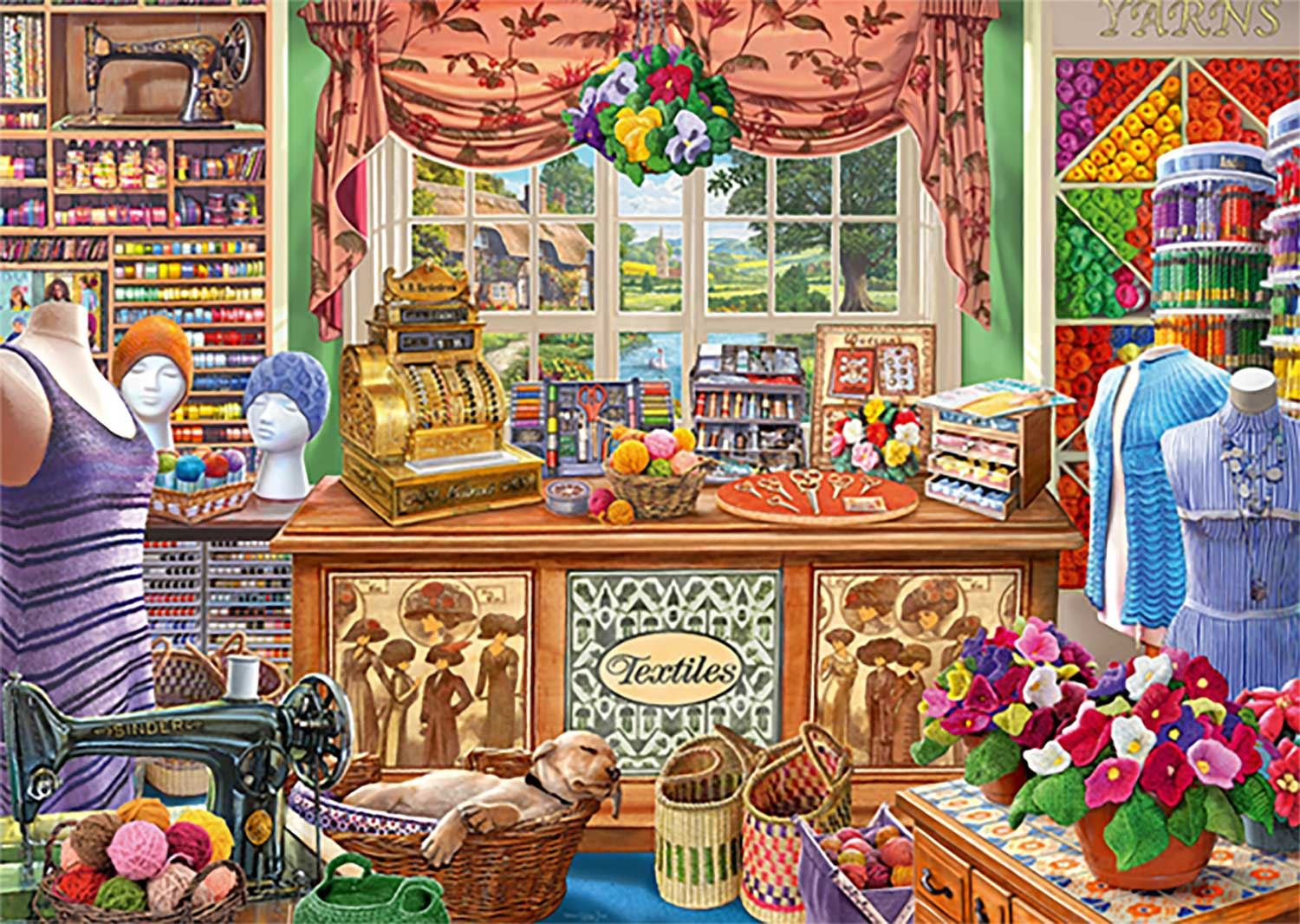 Falcon Deluxe The Haberdashers Shoppe Jigsaw Puzzle (1000 Pieces)