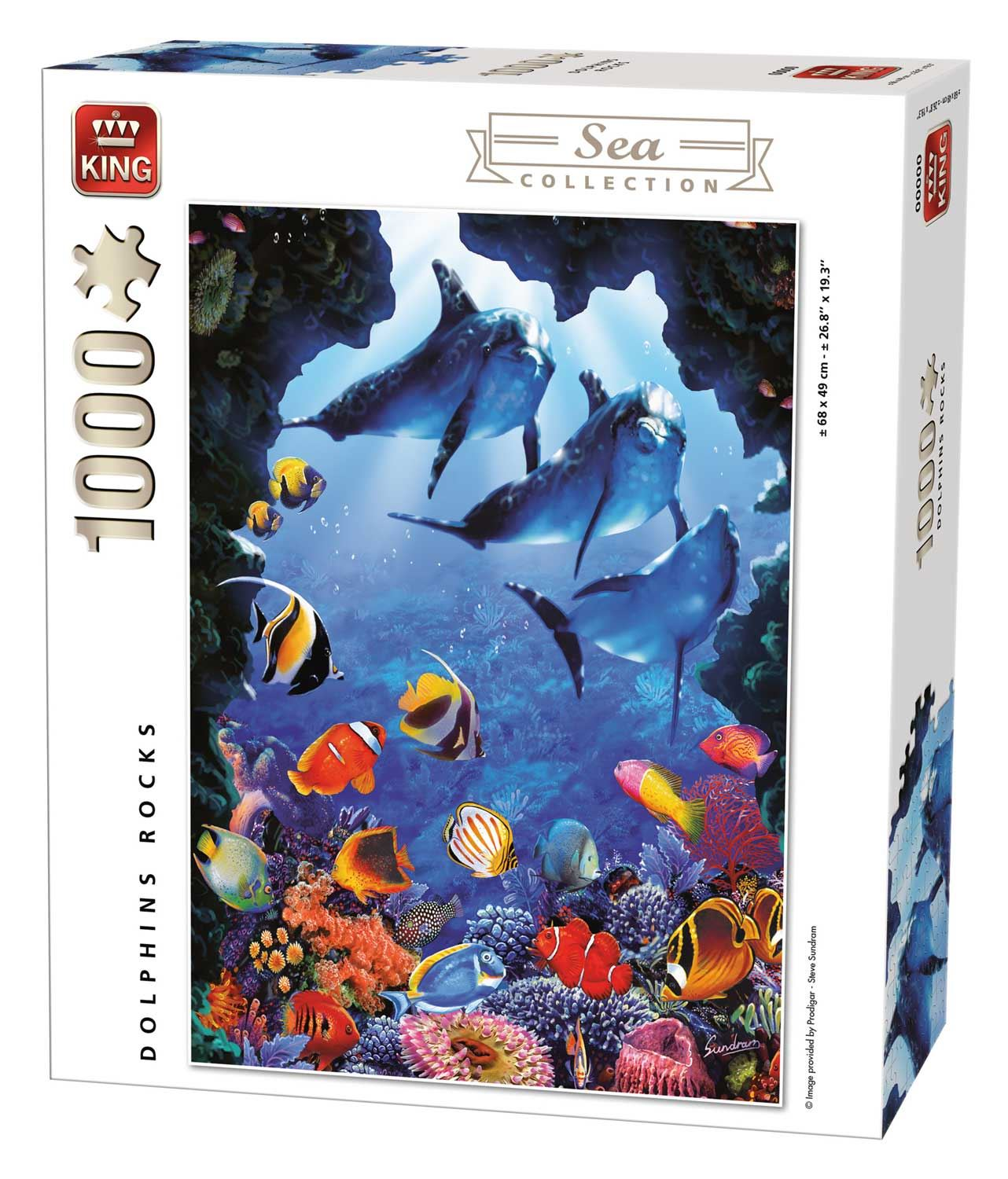 King Dolphins Rocks Jigsaw Puzzle (1000 Pieces)