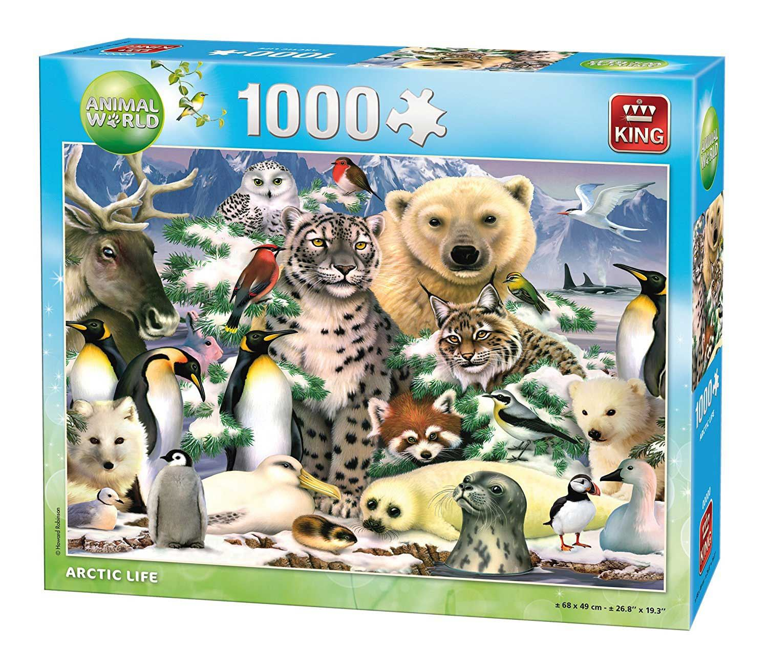 King Animal World Arctic Jigsaw Puzzle (1000 Pieces)