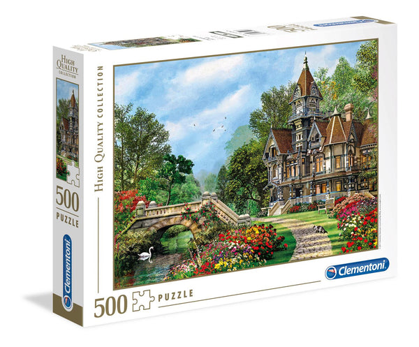 Clementoni Old Waterway Cottage High Quality Jigsaw Puzzle (500 Pieces)