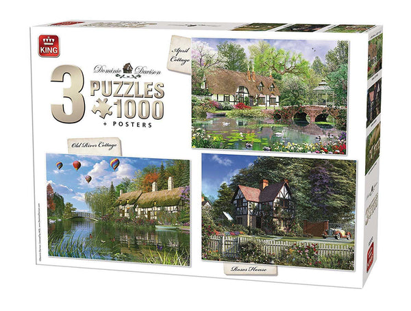 King Cottage 3-In-1 Compendium Jigsaw Puzzles (1000 Pieces)