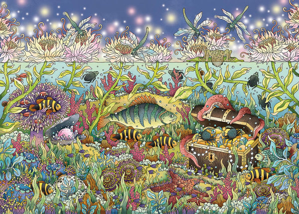Ravensburger Underwater Kingdom at Dusk Jigsaw Puzzle (1000 Pieces)