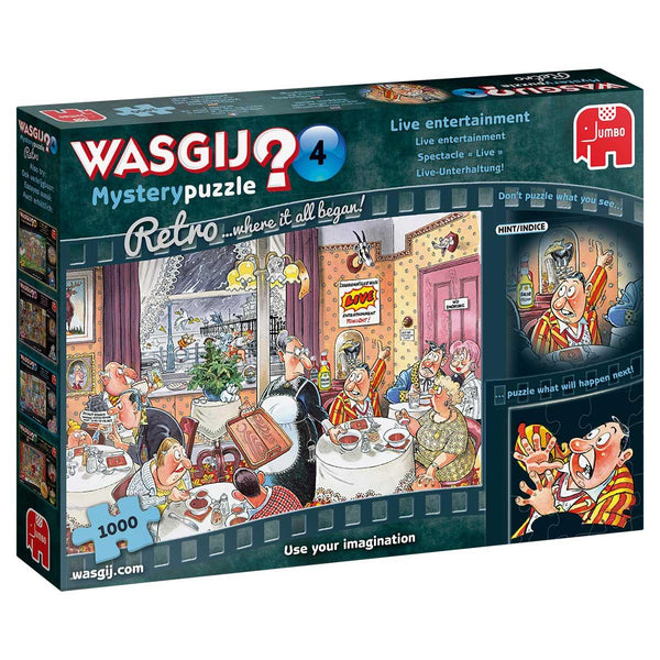 Wasgij Retro Mystery 4 Live Entertainment! Jigsaw Puzzle (1000 pieces)