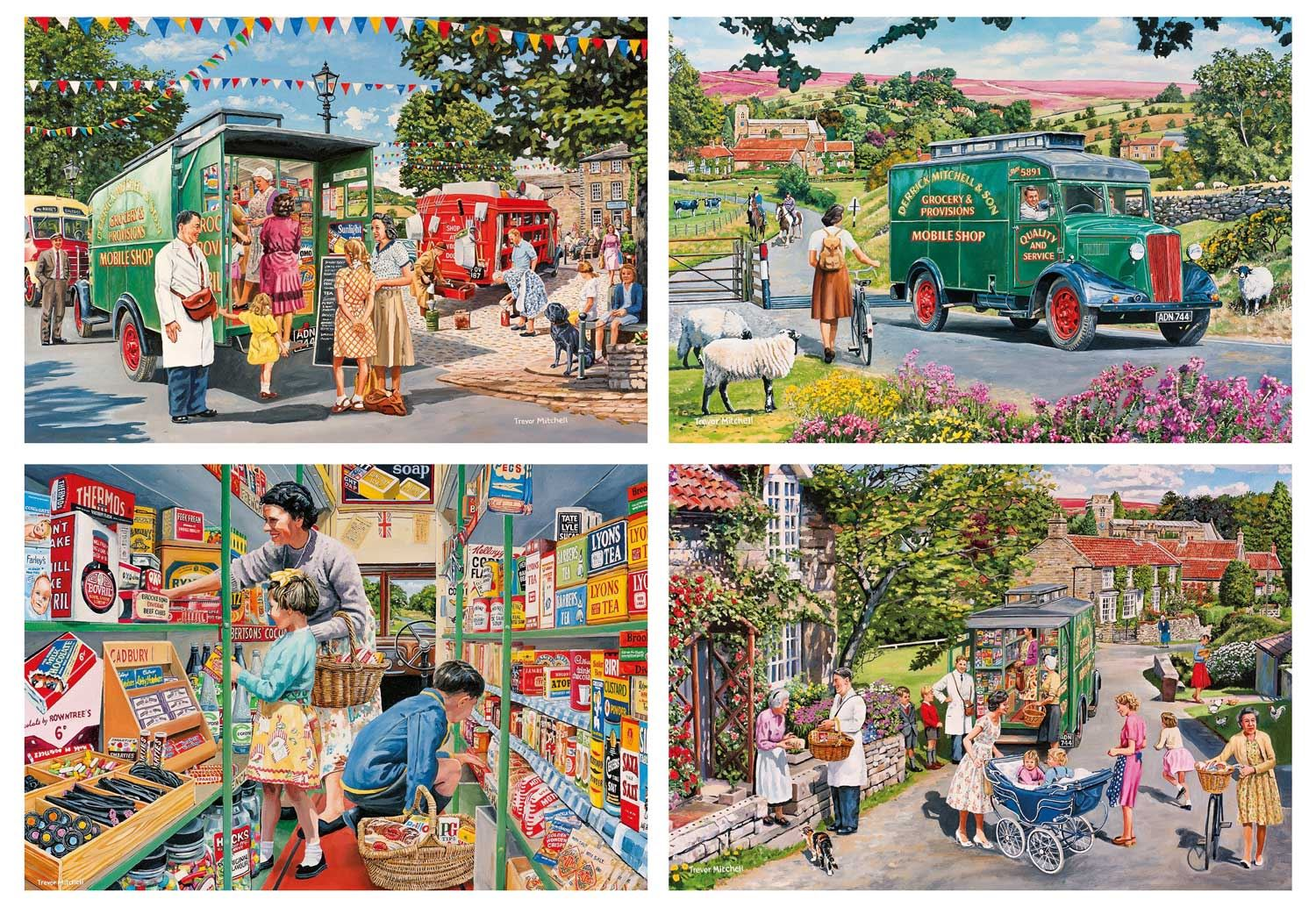 Gibsons Mitchell's Mobile Shop Jigsaw Puzzle (4 x 500 Pieces)