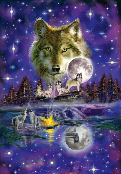 Schmidt Wolf In The Moonlight Jigsaw Puzzle (1000 Pieces)