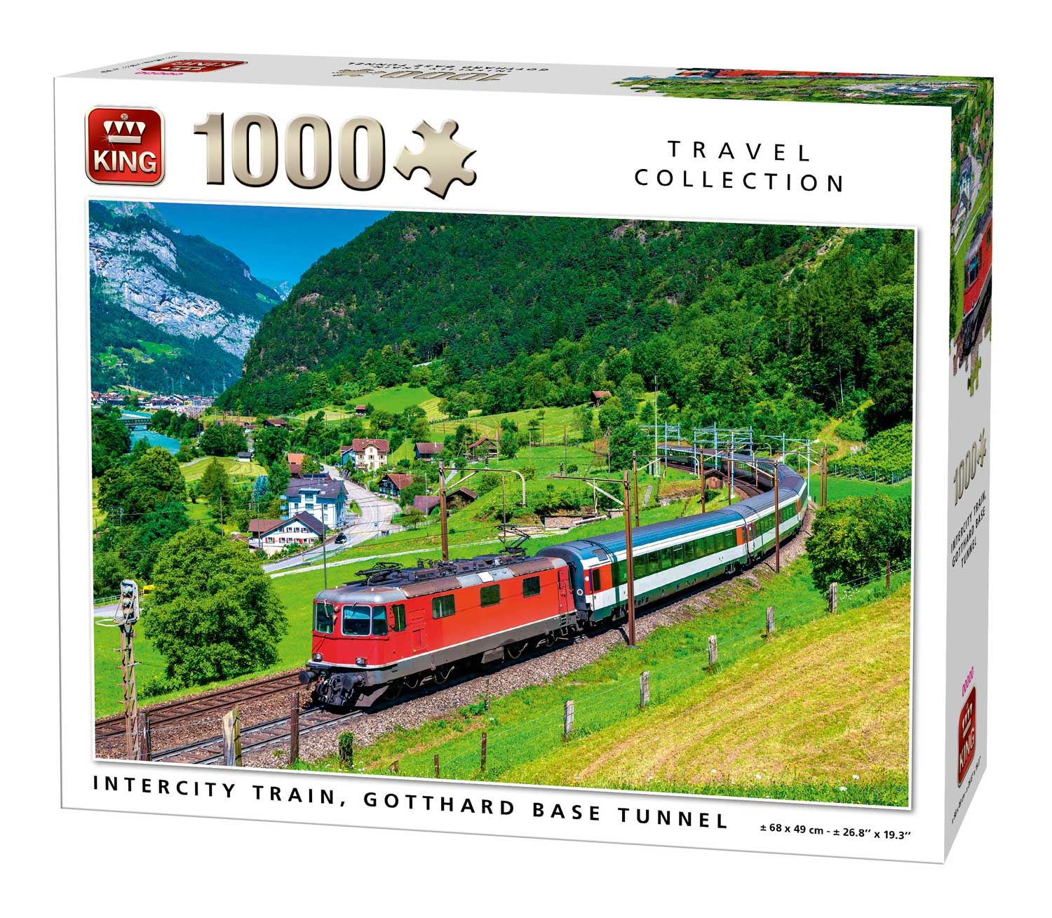 King Intercity Train, Gotthard Base Jigsaw Puzzle (1000 Pieces)