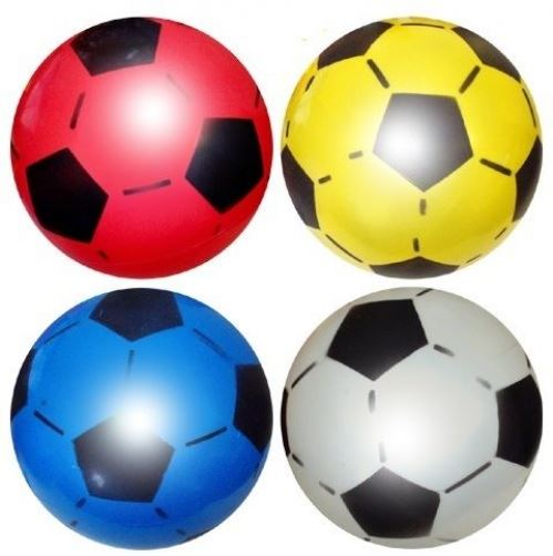 10 Uninflated Plastic Footballs 22.5cm