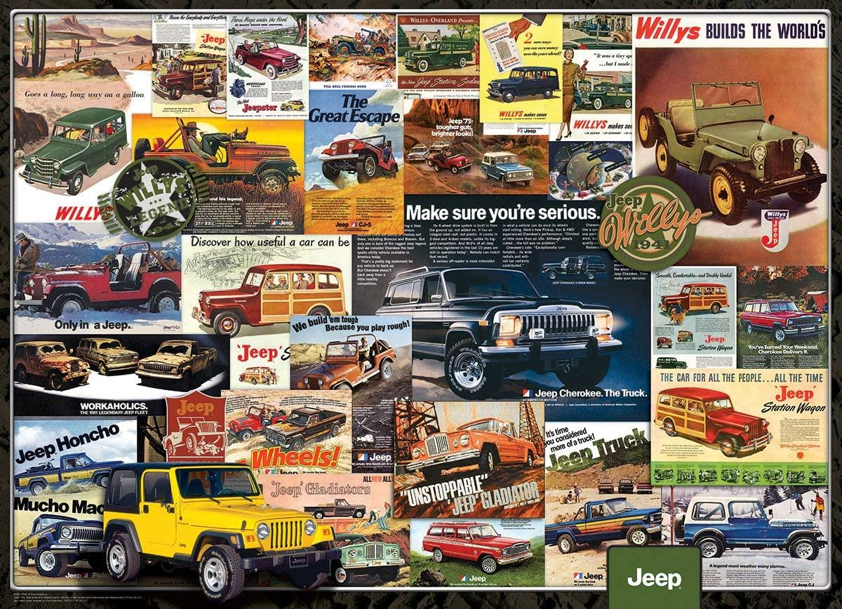 Eurographics Jeep Advertising Collection Jigsaw Puzzle (1000 Pieces)