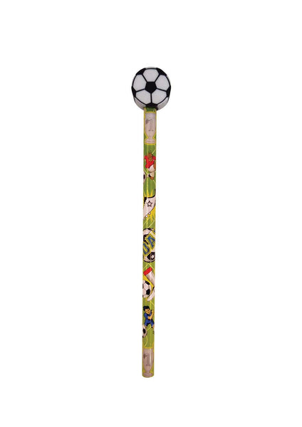 12 Football Pencils With Eraser Tops