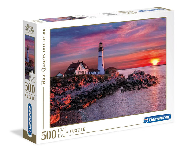 Clementoni Portland Head Light High Quality Jigsaw Puzzle (500 Pieces)