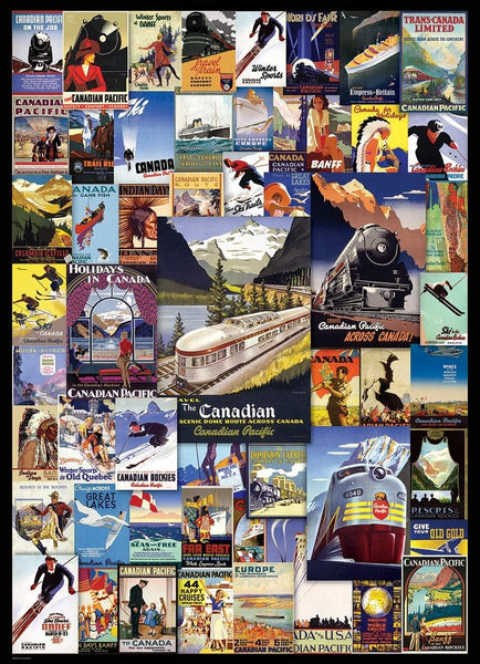 Eurographics Canadian Pacific Railroad Adventures Jigsaw Puzzle (1000 Pieces)