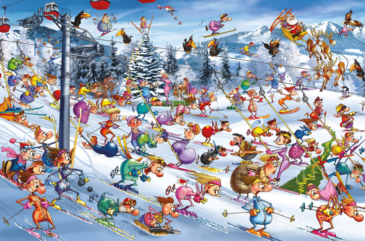 Piatnik Ruyer Christmas Skiing Jigsaw Puzzle (1000 Pieces)