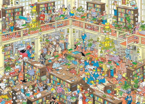 Jan van Haasteren The Library Jigsaw Puzzle (1000 Pieces)